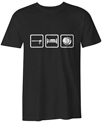 Meatball MFG 'Eat. Sleep. Bocce.' Premium Ultra Soft T-Shirt, Black