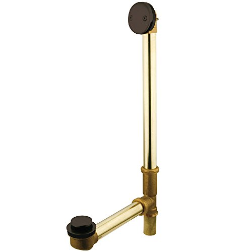 Kingston Brass DTT2185 18-Inch Tub Waste and Overflow with Tip and Toe Drain, 23-1/2-Inch, Oil Rubbed Bronze