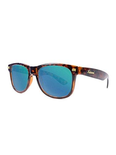 Knockaround Fort Knocks Polarized Sunglasses, Glossy Tortoise Shell / Green - Sunglasses Glossy