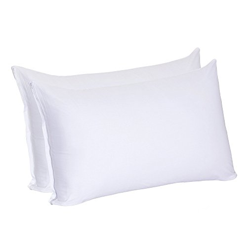 Why Choose Zoom 100% Pure Cotton Zippered Dust Mite and Allergy Control Pillow Encasement Cover,2-Pa...