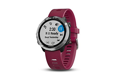 Garmin 010-01863-21 Forerunner 645 Music, GPS Running Watch with Pay Contactless Payments, Wrist-Based Heart Rate and Music, Cerise, 1.2 inches (Renewed)