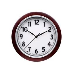 Mainstays 11.5-In Round Wall Clock, Mahogany