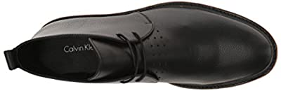 Calvin Klein Men's Jonas Tumbled Leather Ankle Bootie