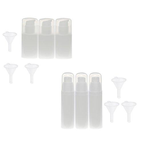 Dolity Bouteille Cosmétique Vide Rechargeable et Réutilisable à Spray Contenant à Crème de Beauté/Lotion Liquide - Kit 6x30ml