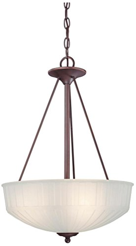 Minka Lavery Pendant Ceiling Lighting 1737-1-167, 1730 Series Large Bowl, 3 Light, 300 Watts, Bronze -