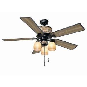 Hampton Bay YG205-NI Ellijay 52 in. Indoor/Outdoor Natural Iron Ceiling Fan For Sale