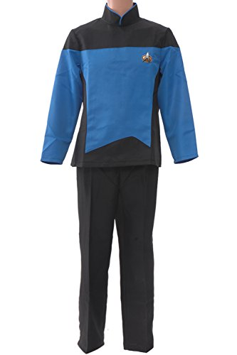 Allten Men's Costume Star Trek TNG Teal Suits Uniform M ()