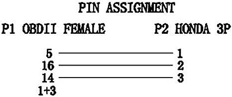 LoongGate SAE J1939 9 Broches 2 en 1 J1939 /à OBD2 16 Broches Adaptateur pour Camion GPS Tracker Interface Scanner de Code Outils de Diagnostic au c/âble OBD II Femelle + m/âle