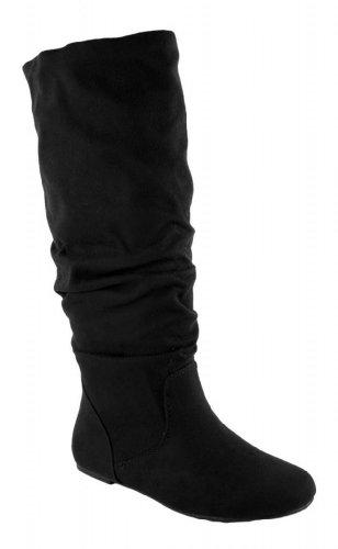 Soda Women Zulu Boots,7.5 B(M) US,Black