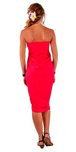 Vif Franges Sarong Femmes World 1 Sans Pour Sarongs Unicolore Rouge De T4qTZngEw