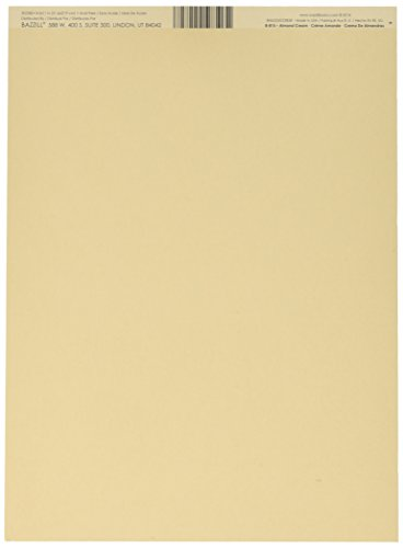 Bazzill Smoothies 8.5 x 11-Inch Cardstock Almond Cream - 8-815 ()