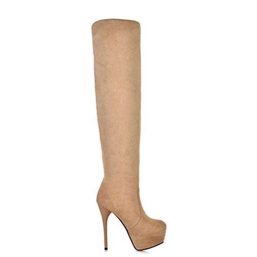Nonbrand, Damen Stiefel & Stiefeletten Beige - beige