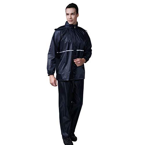 Fashion Antipioggia Abiti Ispessimento Comode Marine Pioggia Hx Unisex Impermeabile Tuta 2pcs Riflettente Blau Taglie Adulto Y76Ibyvfg