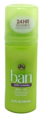 Ban Anti-Perspirant Deodorant Original Roll-On Satin Breeze 3.50 oz (Pack of 6)