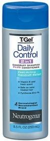 Neutrogena T-gel Daily Control (Neutrogena T/Gel Daily Control 2-in-1 Dandruff Shampoo Plus Conditioner, 8.5 Fluid Ounce)