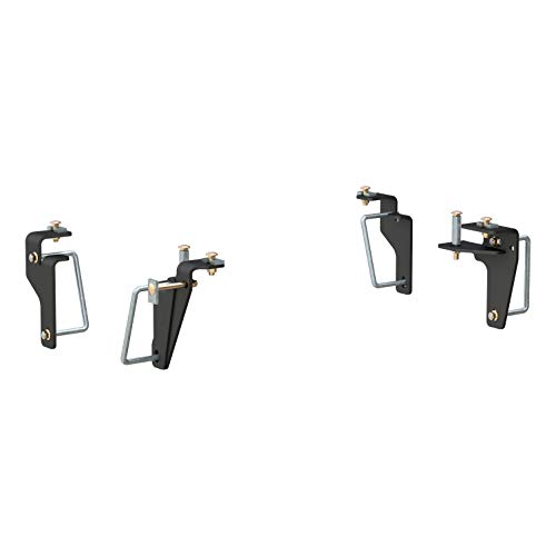 CURT 16426 Black 5th Wheel Hitch Installation Brackets for Select Dodge Ram 2500, 3500