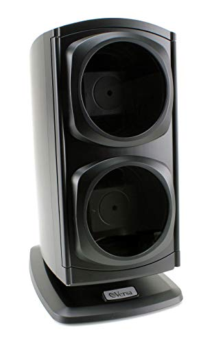 [Newly Upgraded] Versa Automatic Double Watch Winder in Black - Quiet Japanese Motors