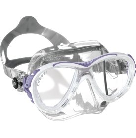Cressi Eyes Evolution CRYSTAL Two Lens Scuba Diving Silicone Mask (Lilac/White)