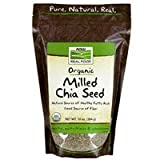 Organic Milled Black Chia Seed, 10 Oz by Now Foods (Pack of 2)