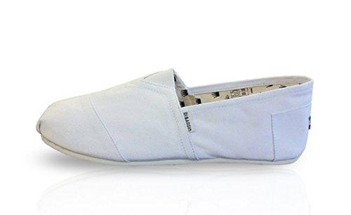 BAGGIO in tacchi bianco Espadrillas tela UOMO Scarpe con DI HwqHfvp