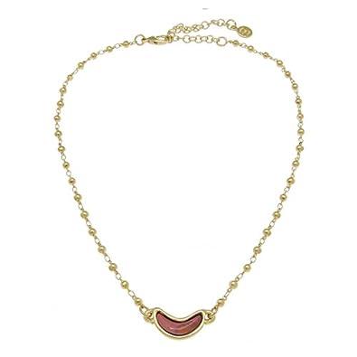 56665a5bcc95 Ciclon Collar bañado en Oro ycristal Naranja ORO824-11  Amazon.es  Joyería