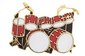 Double Bass Drum Drumset Pin