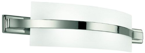Kichler Lighting 45087PN Freeport 2-Light ADA Compliant Incandescent Wall Sconce, Polished Nickel with Etched Linear Textured Glass