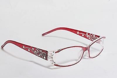 Fancy Womens Reading Glasses, Womens Foster Grant Holland Reading Glasses for Ladies, Adds a Nice Look to the Face, Nice Red Glasses with Case and Loop, the Most Popular Stylish Reading Glasses (1.50)