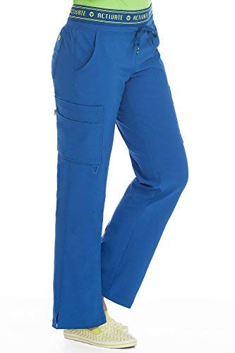 Med Couture Activate Scrub Pants Women, Flow Yoga 2 Cargo Pocket Pant, Royal, Large