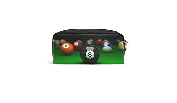 Billiard - Estuche para bolígrafos con cremallera, diseño de bola ...