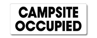 EverMark WHM-600-01 Campsite Occupied Clip-On Sign (Campsite Signs)