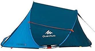 QUECHUA 2 Seconds Resistente al Agua Pop Up Tienda de campaña fácil Asamblea para 2 Hombre, Azul: Amazon.es: Deportes y aire libre