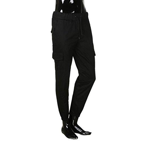 Nero Fit Con Streetwear Vintage Jeans Pantaloni Strappati Hop Uomogo Denim Hip Uomo Zip Moto Slim q6XwTw