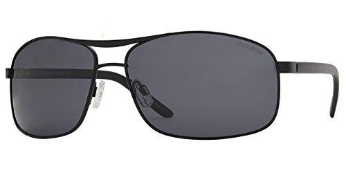 - Men's Big Tall Oversized Rectangular Polarized Metal Sunglasses (Black + Smoke)