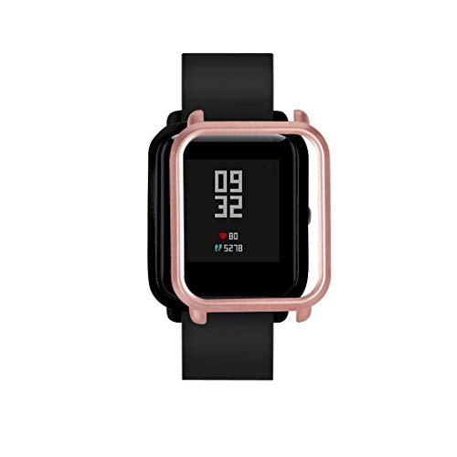 Proof Watch Protect Case, New Slim Colorful Full Protective Bumper Case Cover for Xiaomi Huami Amazfit Bip Youth Watch Rose Gold