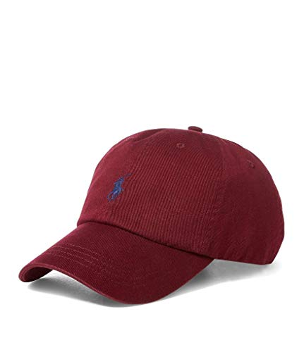(Polo Ralph Lauren Men`s Cotton Chino Baseball Cap (Red, One Size) )