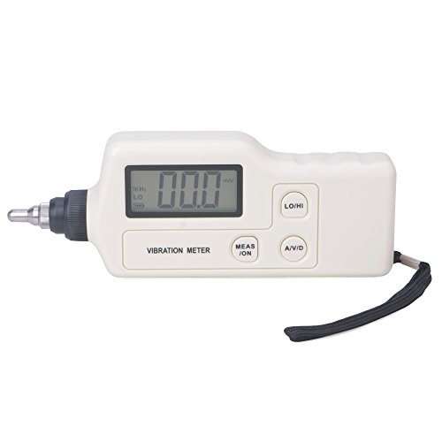 RZ Handheld LCD Digital Vibration Meter Gauge Measure Velocity Displacement Acceleration