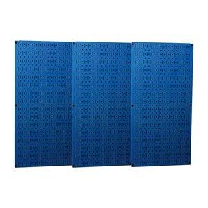 Pegboard Set, Steel, 32x48 In., Blue