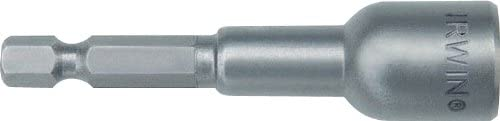 "Irwin Tools 3051012 1/4"" Magnetic Nutsetter, 2 9/16"" Length, 3 Pack"