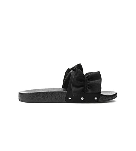 Summer In Ladies' Are Out Black Slippers Worn wxz1COF