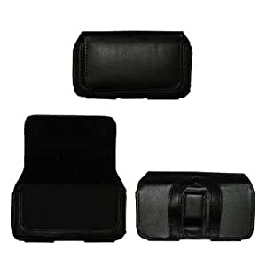 Executive Side Leather Case Pouch (with Belt Clip and Belt Loops) for RIM Blackberry 8530 Curve [Accessory Export Packaging]