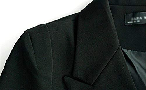 Primaverile Autunno Lunga Tailleur Manica Sottile Squisito Fashion Business Schwarz Giacca Da Monocromo Ufficio Bavero Outerwear Elegante Moda Donna Skinny Eleganza Stile Camicia Parigine Blazer wxvHqCEE