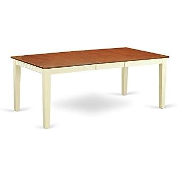 Amazon Com East West Furniture Qut Whi T Rectangular