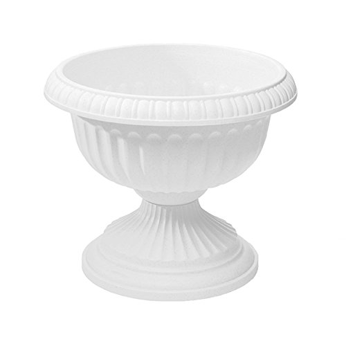 Amazon Com Grecian Urn Planter White 18 Inch Outdoor Urns