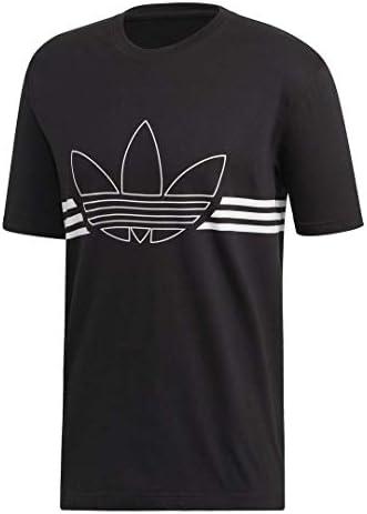 adidas Originals Herren Outline Trefoil Tee T Shirt: Amazon