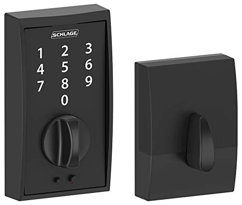 Black Keypad - Schlage Touch Century Deadbolt (Matte Black) BE375 CEN 622