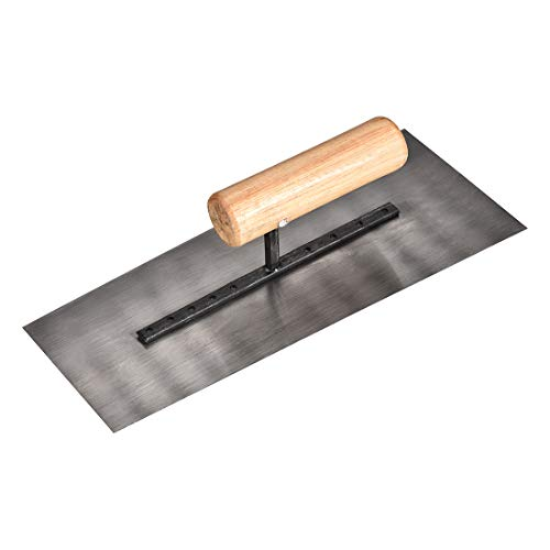uxcell Masonry Hand Trowel 9.3 Inch Drywall Concrete Finishing Building Tool Carbon Steel Blade with Wooden Handle