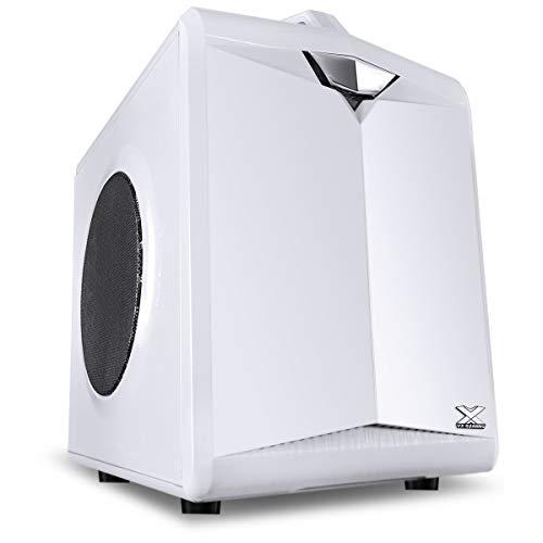 Gabinete Gamer Cubo Vx Gaming Cube Com Janela Em Malha Metálica Branco Com Alça, Vinik, 28828