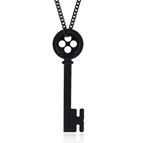 - Tianshui Store Button Eyes Necklace Key Skeleton Necklaces Pendants Kingdom Hearts Choker Jewelry Women Men Gift