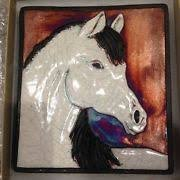 Raku Wall Art Horse ()